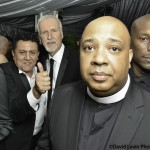 James Cameron, Rev Run, and Tyrese Gibson at the Oscars afterparty 2014
